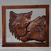 Panels handmade. Livemaster - original item Panels: Wolves. Handmade.