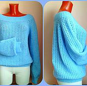 Одежда handmade. Livemaster - original item Blue sweater. Handmade.