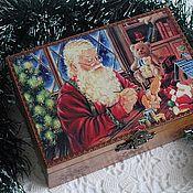 """Подарки к праздникам ручной работы. Ярмарка Мастеров - ручная работа Шкатулка """"Мастерская Деда Мороза"""". Handmade."""