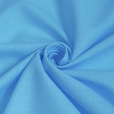 Материалы для творчества ручной работы. Ярмарка Мастеров - ручная работа Ткань льняная тонкая блузочная Голубая. Handmade.