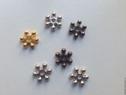 Разделители `Снежинка` золотого, серебряного, черного и медного цвета