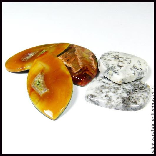 Для украшений ручной работы. Ярмарка Мастеров - ручная работа. Купить Кабошоны натуральный камень симбирцит. Handmade. Кабошон