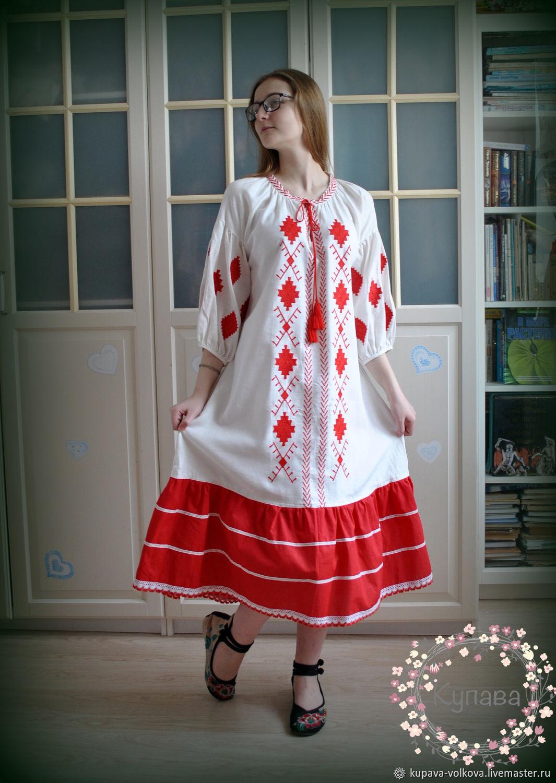 Boho style summer linen dress ' Ethno', Dresses, Anapa,  Фото №1