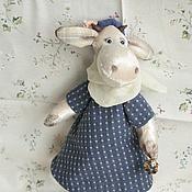 Куклы и игрушки ручной работы. Ярмарка Мастеров - ручная работа коровка. Handmade.