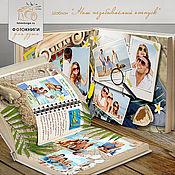 Дизайн и реклама ручной работы. Ярмарка Мастеров - ручная работа Шаблон фотокниги «Наш незабываемый отпуск». Handmade.