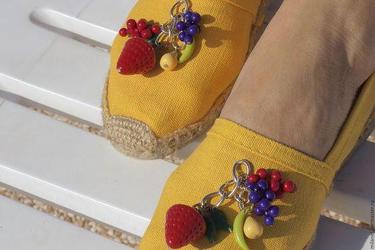 Обувь ручной работы. Ярмарка Мастеров - ручная работа. Купить желтые эспадрильи,матерчатые тапочки, эспадрильи с вышивкой. Handmade. Желтый
