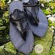"""Обувь ручной работы. Ярмарка Мастеров - ручная работа. Купить Черные кожаные сандалии """"Black Moroccan"""". Handmade. Черный"""