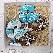 "Сувениры и подарки handmade. Livemaster - original item Gingerbread "" Birds "". Handmade."