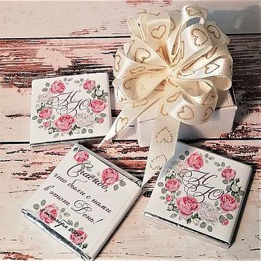 Свадебный салон ручной работы. Ярмарка Мастеров - ручная работа Подарки гостям - свадебные шоколадки арт 019-1-1. Handmade.