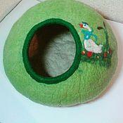Для домашних животных, ручной работы. Ярмарка Мастеров - ручная работа Домик - валенок, из 100% шерсти.. Handmade.