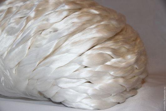Валяние ручной работы. Ярмарка Мастеров - ручная работа. Купить Шелк малберри волокна для валяния. Handmade. Белый, Валяние