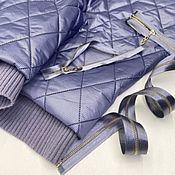 Материалы для творчества handmade. Livemaster - original item Fabric: Pinstripe jacket fabric. - lilac. Handmade.