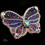 Украшения ручной работы. Ярмарка Мастеров - ручная работа Зимняя бабочка. Handmade.
