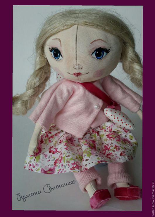 Куклы тыквоголовки ручной работы. Ярмарка Мастеров - ручная работа. Купить Для примера Текстильная Интерьерная  кукла Принцесса Ангелов. Handmade.