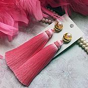 """Украшения ручной работы. Ярмарка Мастеров - ручная работа Серьги - кисти """"Pink pearl"""". Handmade."""