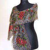 Аксессуары handmade. Livemaster - original item Kalina Krasnaya - a Lacy scarf. Handmade.