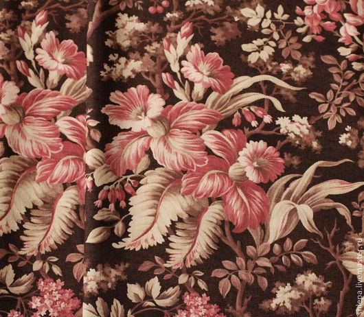 Шитье ручной работы. Ярмарка Мастеров - ручная работа. Купить Ткань для пэчворка. Handmade. Веточки, ткань хлопок, цветочный узор