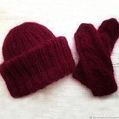 Аксессуары handmade. Livemaster - original item Hat and mittens knitted set