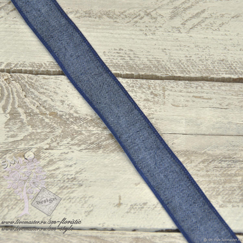 Джинсовая лента замша натуральная цена за 1 м