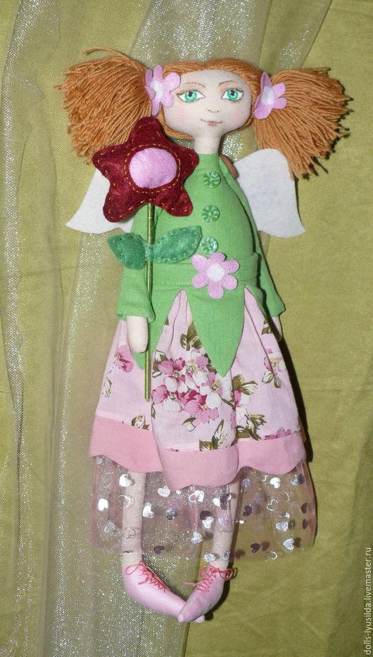 Коллекционные куклы ручной работы. Ярмарка Мастеров - ручная работа. Купить Фея цветов. Текстильная кукла. Handmade. Разноцветный