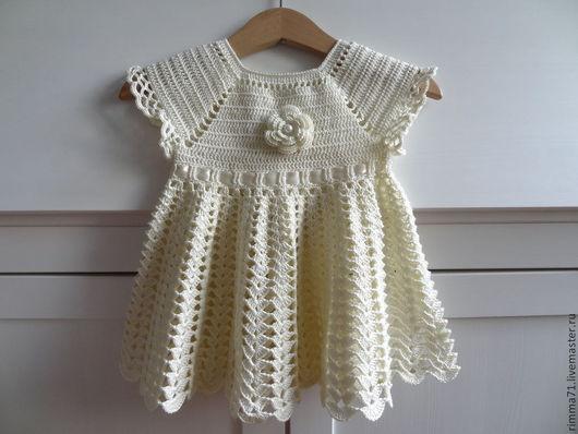 Одежда для девочек, ручной работы. Ярмарка Мастеров - ручная работа. Купить Платье для новорожденной. Handmade. Бежевый, крестильное платье, для крещения
