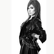 Роскошная кожаная куртка с молниями Fashion Police оооочень красивая!