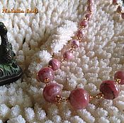 Украшения handmade. Livemaster - original item Rhodochrosite necklace in Wire Wrap technique. Handmade.