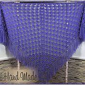 Аксессуары handmade. Livemaster - original item Crochet Shawl VIOLA 220*130 cm Triangular with Tassels #004. Handmade.