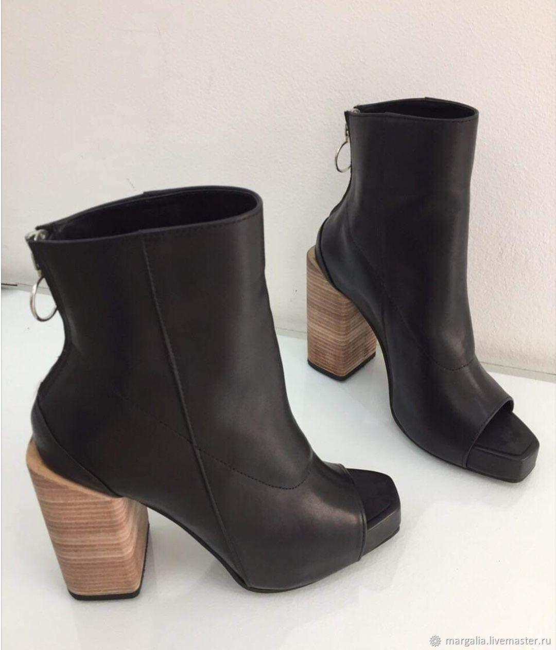 Обувь ручной работы. Ярмарка Мастеров - ручная работа. Купить Ботильоны на лето. Handmade. Ботильоны, обувь на заказ, ботильоны женские