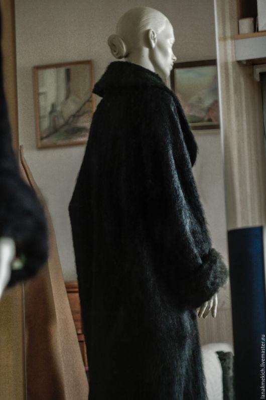 """Верхняя одежда ручной работы. Ярмарка Мастеров - ручная работа. Купить Демисезонное пальто """"Мохер"""". Handmade. Черный, черное пальто"""