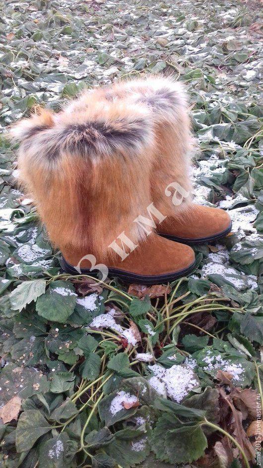 Обувь ручной работы. Ярмарка Мастеров - ручная работа. Купить Унты женские C-604. Handmade. Коричневый, обувь