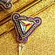 Men's brooch EDUARD Purple gold mother of Pearl. Chokers. LADY-LIZA jewelry shop. Online shopping on My Livemaster.  Фото №2