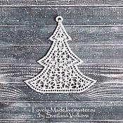 Подарки к праздникам handmade. Livemaster - original item Lace herringbone. Christmas tree decoration. Handmade.