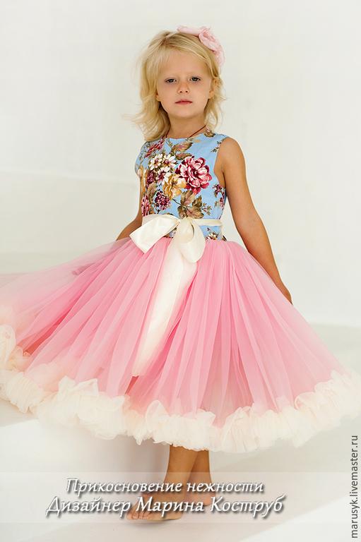Одежда для девочек, ручной работы. Ярмарка Мастеров - ручная работа. Купить платье Цветок изобилия. Handmade. Бледно-розовый