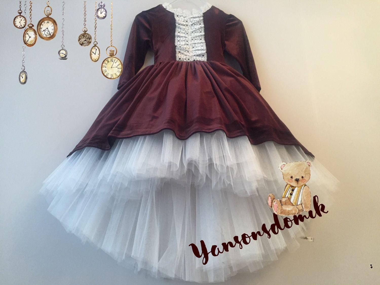 Платье для девочки велюровое