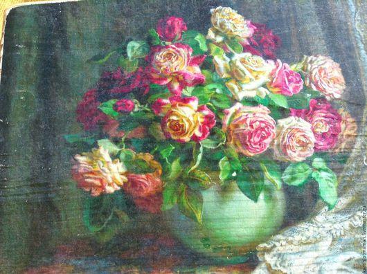 Картины цветов ручной работы. Ярмарка Мастеров - ручная работа. Купить Розы в белой вазе.. Handmade. Розы, букет