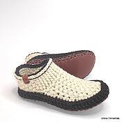 Обувь ручной работы handmade. Livemaster - original item Unisex slippers-socks, p. .37, half-wool. Handmade.