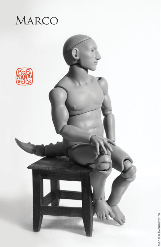 Коллекционные куклы ручной работы. Ярмарка Мастеров - ручная работа. Купить Горгулья Марко.  Мастер-модель для отливки в ПУ.. Handmade.