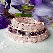 Фен-шуй и эзотерика handmade. Livemaster - original item Bracelet made of amethyst and rose quartz in the style of Chan Luu. Handmade.