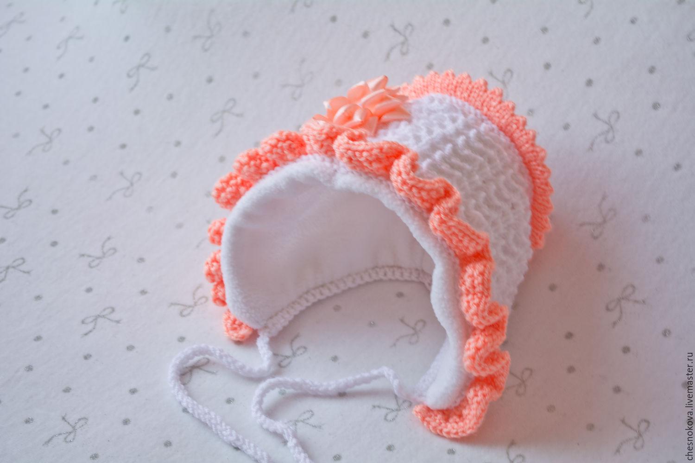Вязание шапочка на выписку