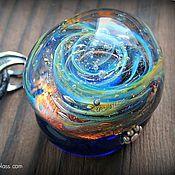 """Украшения ручной работы. Ярмарка Мастеров - ручная работа Кулон из стекла """"Галактика вне времени"""". Handmade."""