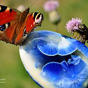 Украшения ручной работы. Ярмарка Мастеров - ручная работа Фарфоровая брошь с бабочкой Нимфалидой. Handmade.