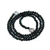 Украшения handmade. Livemaster - original item Long beads of natural green chrysoprase. Handmade.