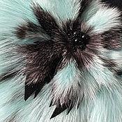 Аксессуары ручной работы. Ярмарка Мастеров - ручная работа Воротничок- горжетка «Мятный бриз» в комплекте с брошью. Handmade.