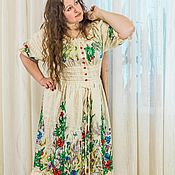 """Одежда ручной работы. Ярмарка Мастеров - ручная работа вышитое платье """"Буйство красок""""авторская ручная работа. Handmade."""