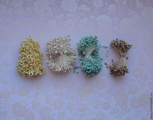 Материалы для флористики ручной работы. Ярмарка Мастеров - ручная работа. Купить Тычинки 5 цветов жемчужные. Handmade. Тычинки