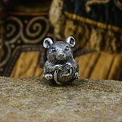 Украшения handmade. Livemaster - original item Cheesy mouse charm. Handmade.