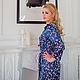 Платья ручной работы. Платье / Платье из атласной ткани. Oksana Savochkina. Ярмарка Мастеров. Праздничное платье, платье с вырезом