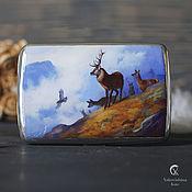 Картины и панно handmade. Livemaster - original item Silver cigarette case
