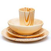 Посуда handmade. Livemaster - original item Wooden Dining Set (3#35. Handmade.